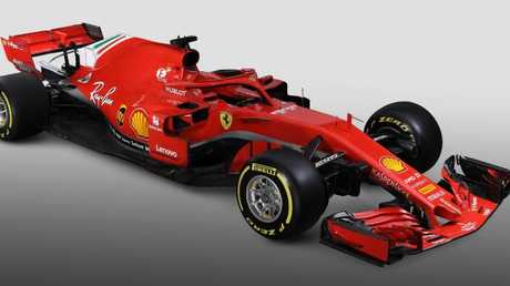 The new Ferrari SF71H.