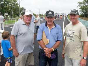 John Ellem, Phil Ensbey and Rodney Ellem catch up at