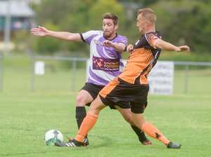 Action from round 1 FFA Cup between Grafton City and