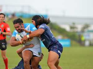 RUGBY LEAGUE: NRL trail. Titans v Warriors. TiTan's