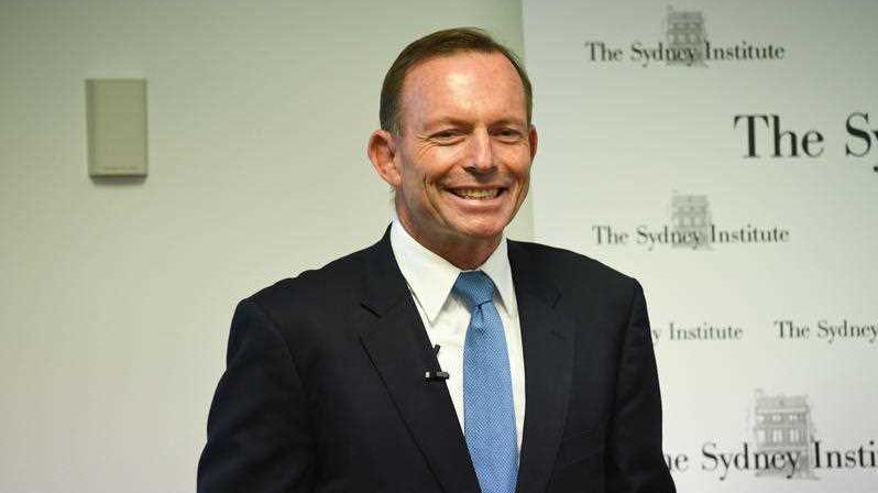 Former prime minister Tony Abbott addresses the Sydney Institute on Tuesday, February 20, 2018.