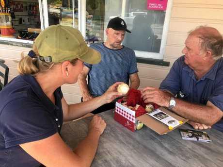 Katy McCallum, chef Matt Golinksi and Steve Horseman plan the menu for Dinner Under the Kilkivan Moon.