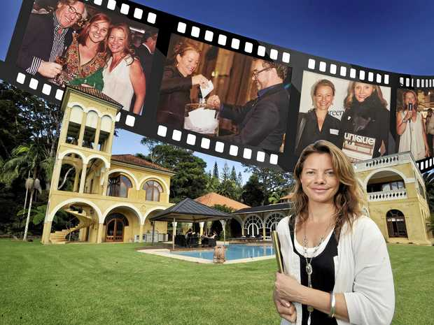 BELOW: Company director of Unique Estates Nicole Van Wijngaarden at one of the properties she sold and, inset, at Unique Estates co-hosted events including the Mossgreen Classic Car Auction and Sydney International Boat Show.