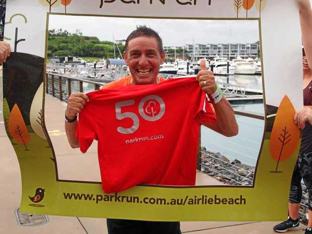Sam Vinci hit the 50-run milestone at the Airlie Beach parkrun .