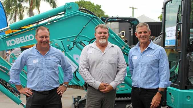 CQE Director Jack Trenaman with Kobelco representatives Mark Johnson and Paul Torrington