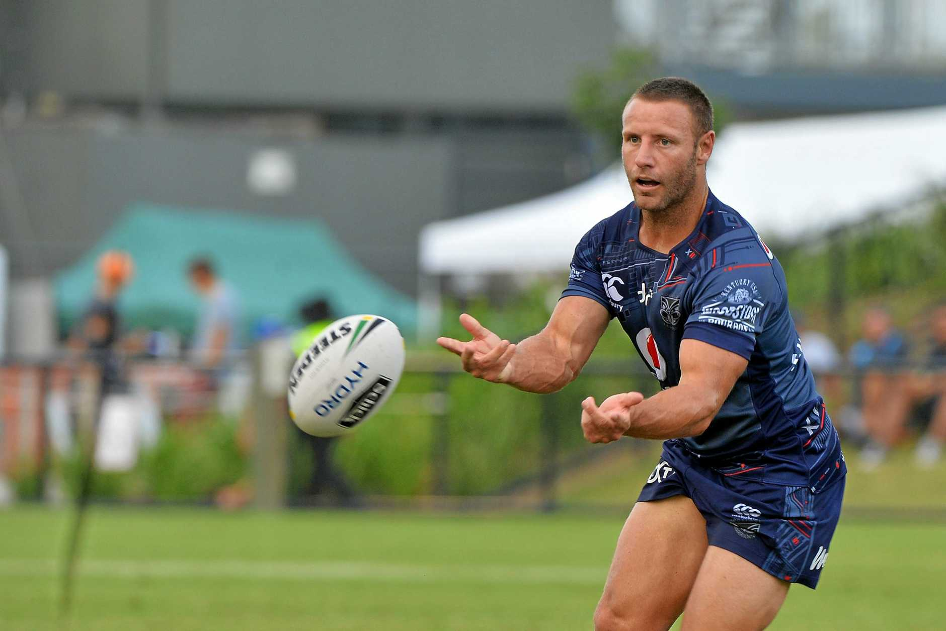 RUGBY LEAGUE: NRL trail. Titans v Warriors. Warrior's Blake Green.