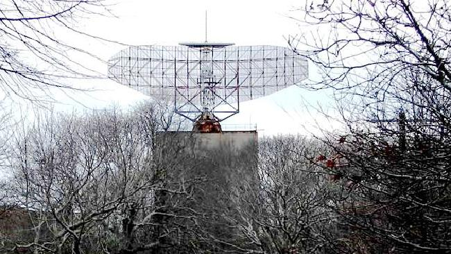 AN/FPS-35 radar dish at Camp Hero State Park, Montauk, NY.