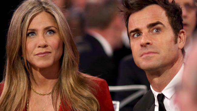 Jennifer Aniston and Justin Theroux at the Critics' Choice Movie Awards in January 2015. Picture: Christopher Polk/Getty Images