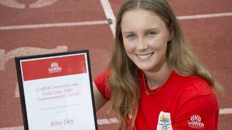 Riley Day was this week named as a Griffith University scholarship winner.