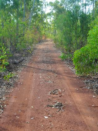 The road to the Arnhem Land space base