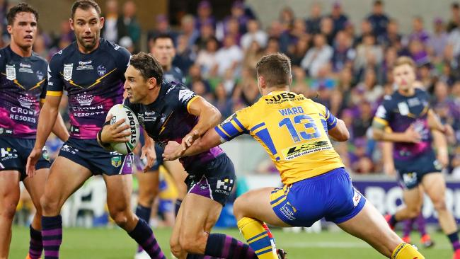 Slater came off early in Melbourne's win over Leeds.