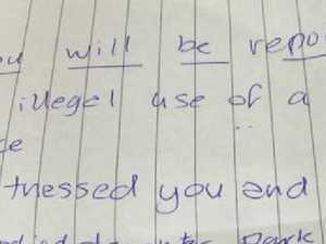 Vile note on disabled woman's car