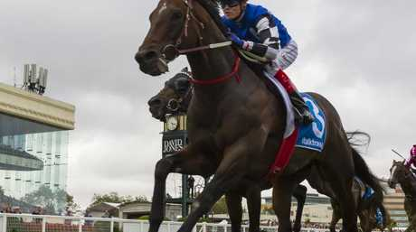 Craig Williams and Brave Smash take out the Group 1 Futurity. Picture: Getty Images
