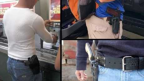 'Open carry' is legal in Texas, but not in institutions and building like universities. Picture: Supplied