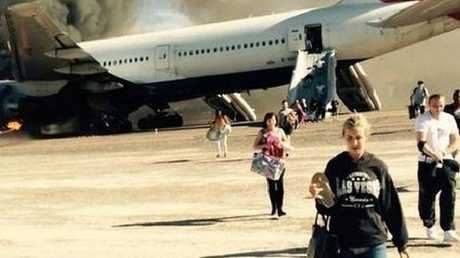 Passengers evacuated a British Airway's Boeing 777 — with luggage.