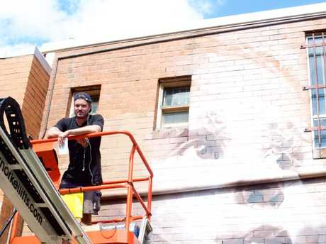 Guido is heading back to his home state to paint his latest mural.