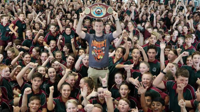 Jeff Horn is king of the kids.