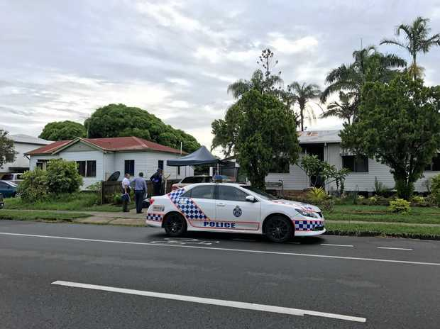 Police investigating a fire at the front door of a home in South Mackay on Sunday morning.