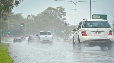 Gladstone experienced heavy periods of rain on Sunday February 25.