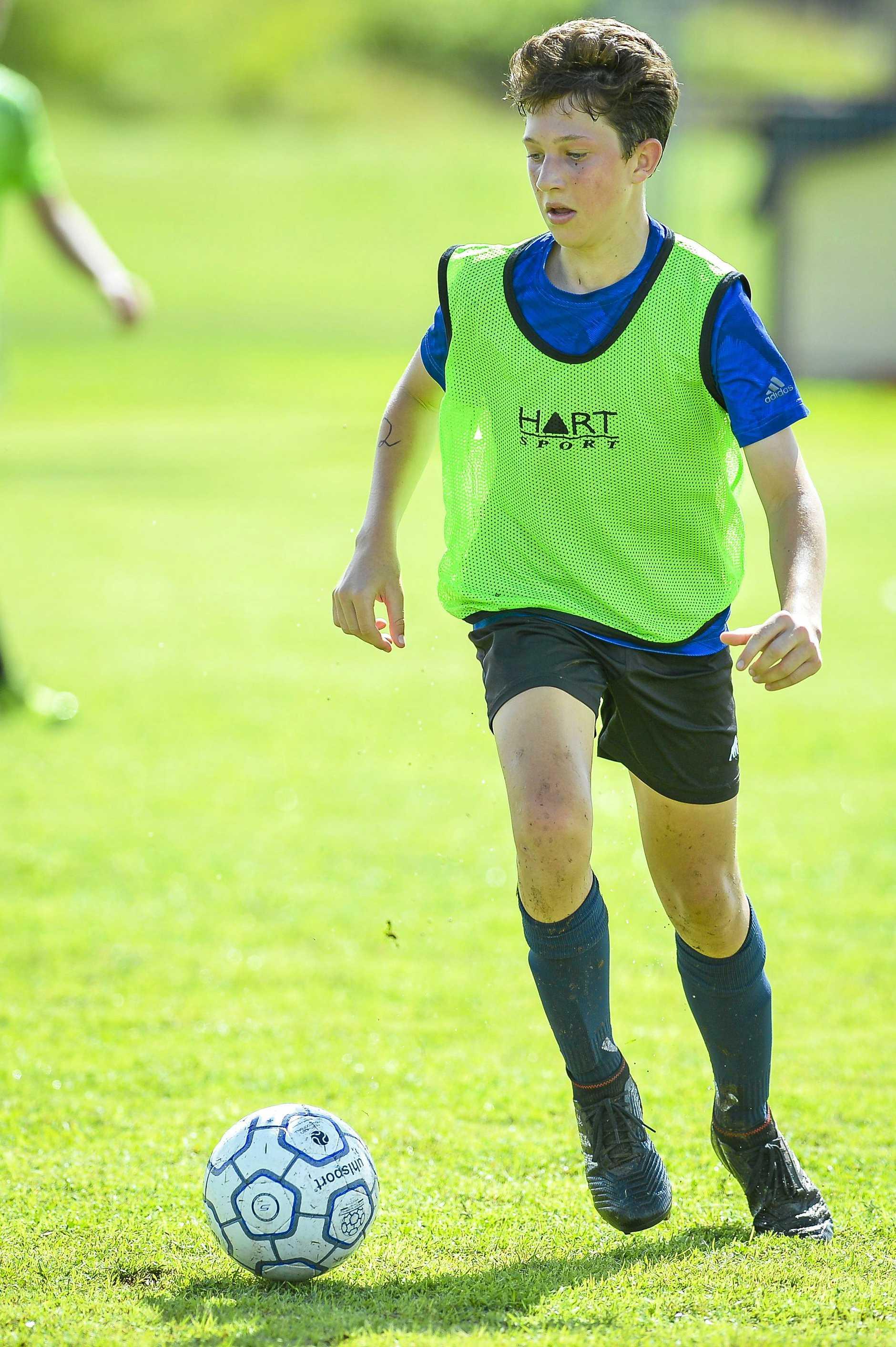 Dan Gold, U15 at the QLD quad series boys trials.