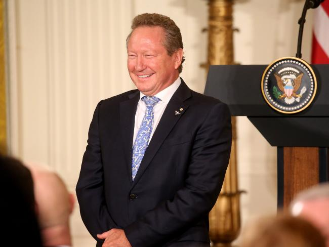 West Australian mining magnate Andrew 'Twiggy' Forrest inside the White House. Picture: Nathan Edwards