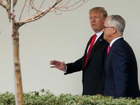 Malcolm Turnbull spent most of Friday inside the White House with Donald Trump. Picture: Nathan Edwards