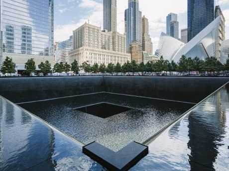 The south pool memorial in New York for victims of the attack which killed nearly 3000 people.