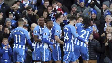 Brighton & Hove Albion celebrate