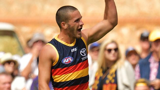 Rookie Lachlan Murphy kicked three goals in the Crows' win over Freo. Picture: Getty Images