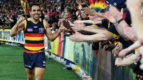 Eddie Betts has been racially abused during Showdowns against Port Adelaide twice in the last two years.