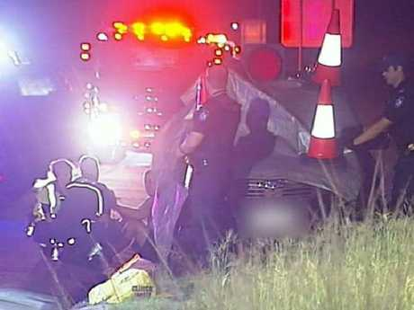 A man suffered life-threatening head injuries in an assault on the M1 between Yatala and Pimpama. Picture: 9 News