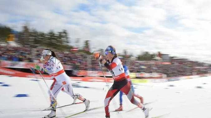 Austria's Teresa Stadlober competes during the women's 30km cross country event