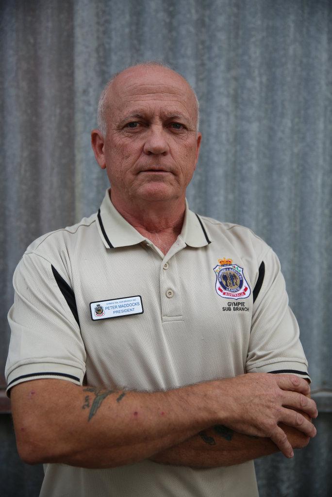 Gympie RSL Sub-branch president Peter Maddocks.