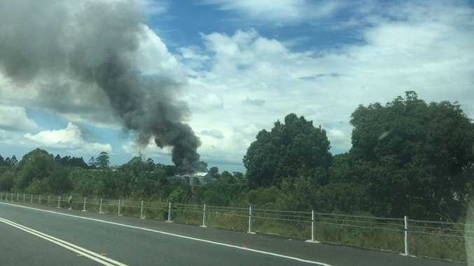 Oil fire burning at industrial estate, one injured