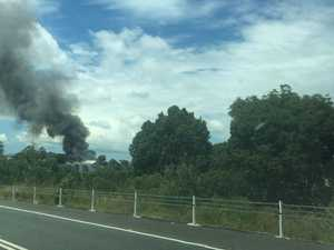 Fire breaks out at industrial estate