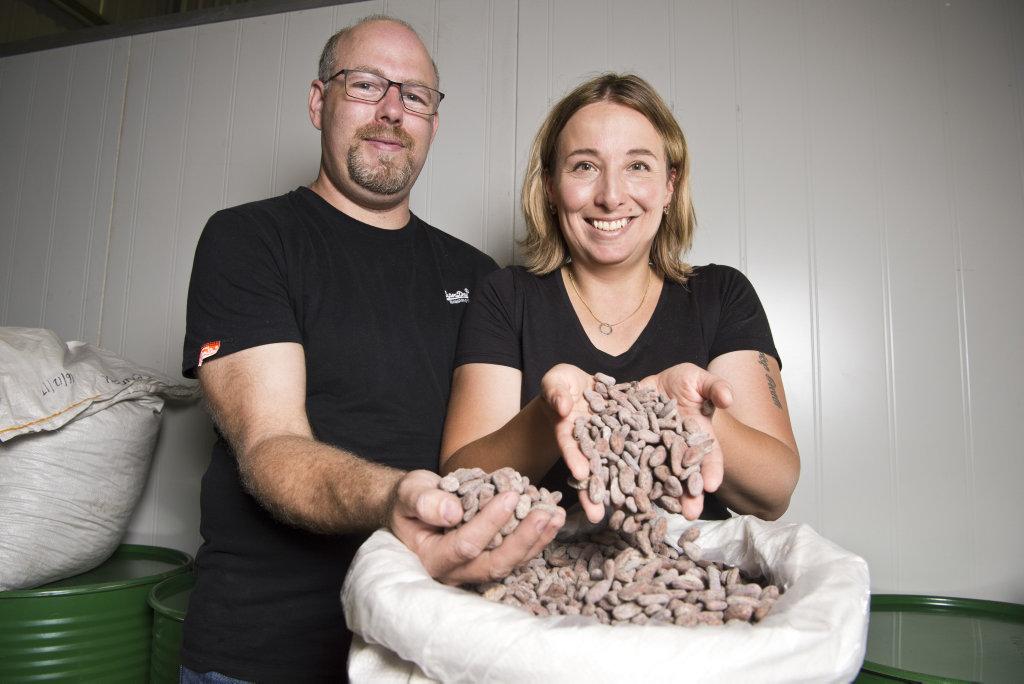 Trevor and Magdalena Smith are bringing their award-winning Metiisto chocolate to Toowoomba.