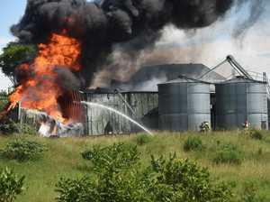 PHOTOS: Dramatic scenes at macadamia oil factory fire