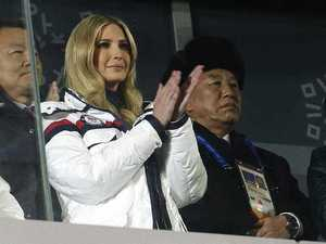 Ivanka Trump arrives at the Olympics