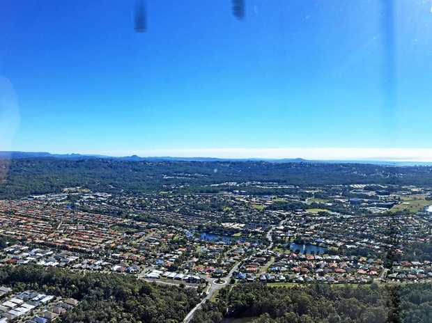 Sunshine Coast from the air.