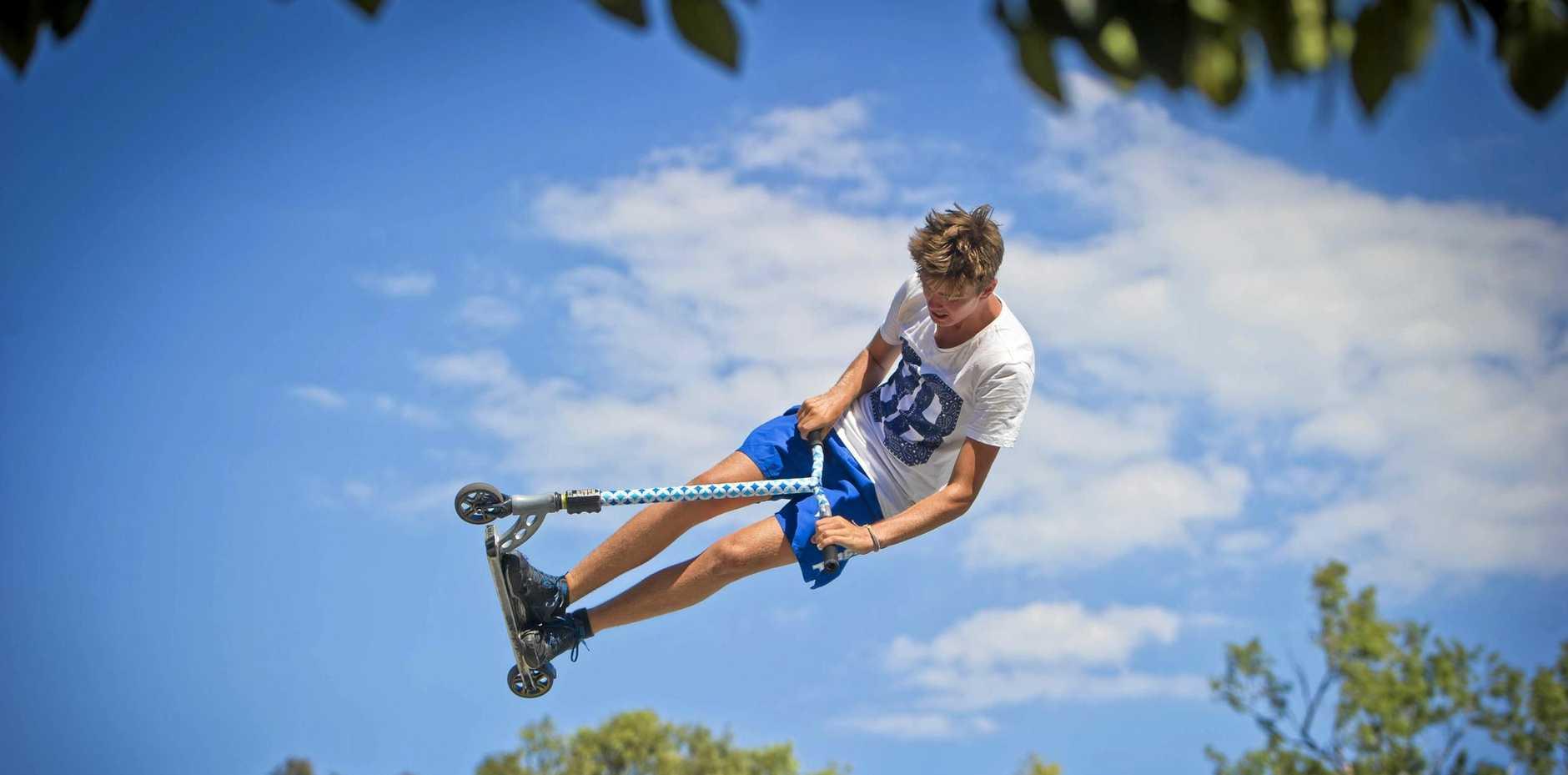 Brendan Gosley, 15. - Boyne Island Skate Park.  Photo Paul Braven / The Observer