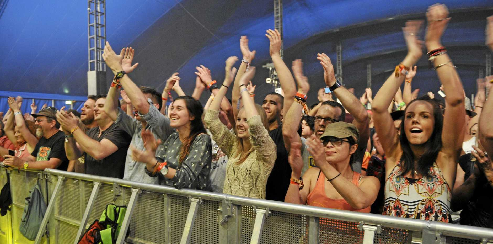 Crowds appeared to be having a blast on the third day of the 25th Annual Byron Bay Bluesfest held at Tyagarah near Byorn Bay, 2014.