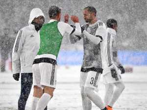 Pics: Juve's crunch match off amidst epic blizzard