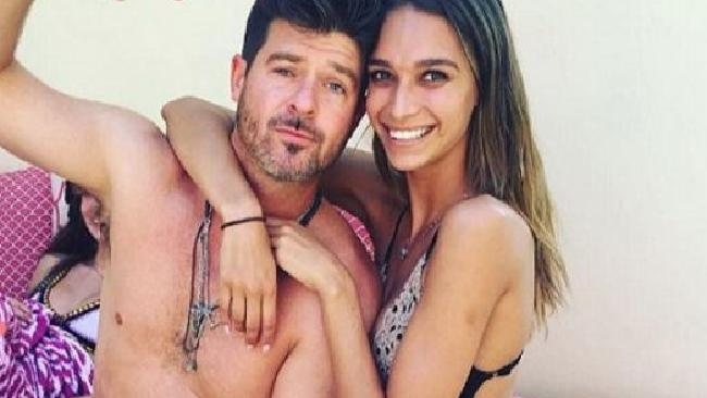 Robin Thicke and girlfriend April Love have welcomed a daughter into the world. Picture: Supplied