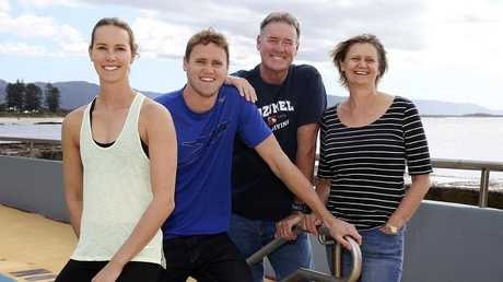 The McKeon family (from left) Emma, David, Ron and Susie. Photo: Jane Dempster/The Australian