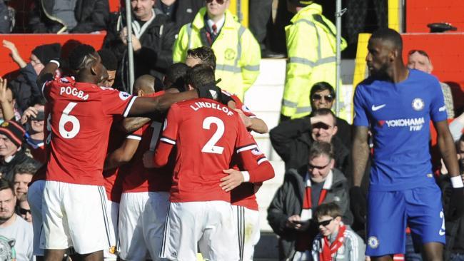 Manchester United's Romelu Lukaku celebrates