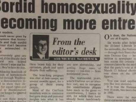 Michael McCormack's column written in 1993.
