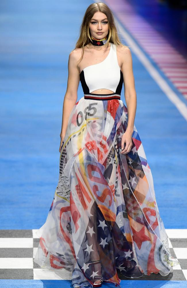 Tommy's girl! Gigi Hadid. Picture: AFP