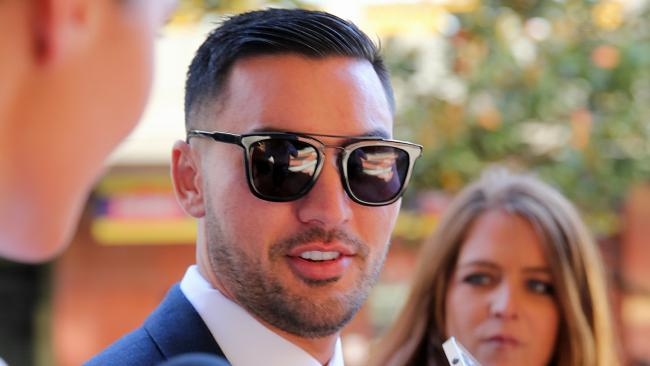 Salim Mehajer outside court for an appearance last year. Picture: John Grainger.