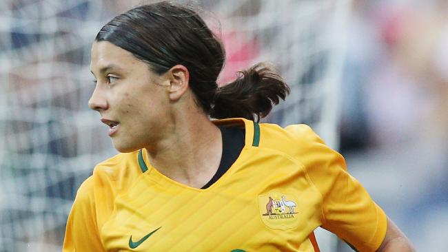 Sam Kerr was on target for the Matildas.