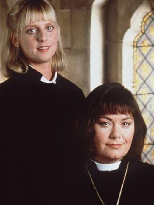 Emma Chambers with Dawn French. Supplied